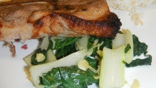 Soy-ginger Pork Chops With Stir-fry Bok Choy