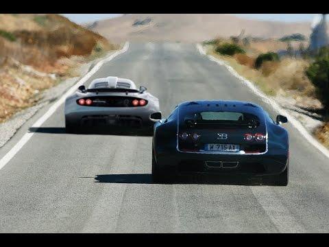 bugatti veyron ss vs hennessey venom gt - youtube