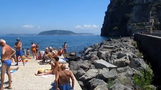 Beach near the Aragonese Castle Ishia Italy