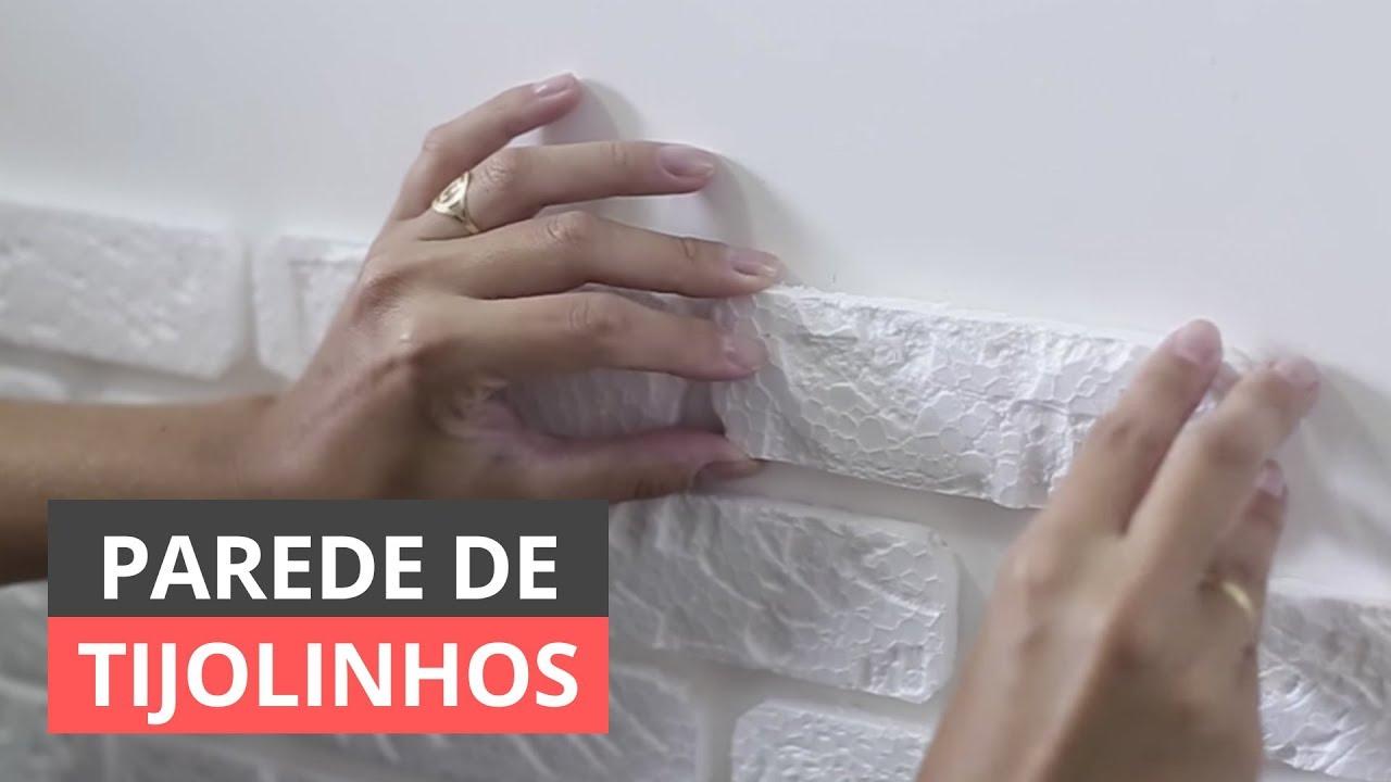 7e9972472 DIY  COMO FAZER PAREDE DE TIJOLINHO DE ISOPOR - YouTube