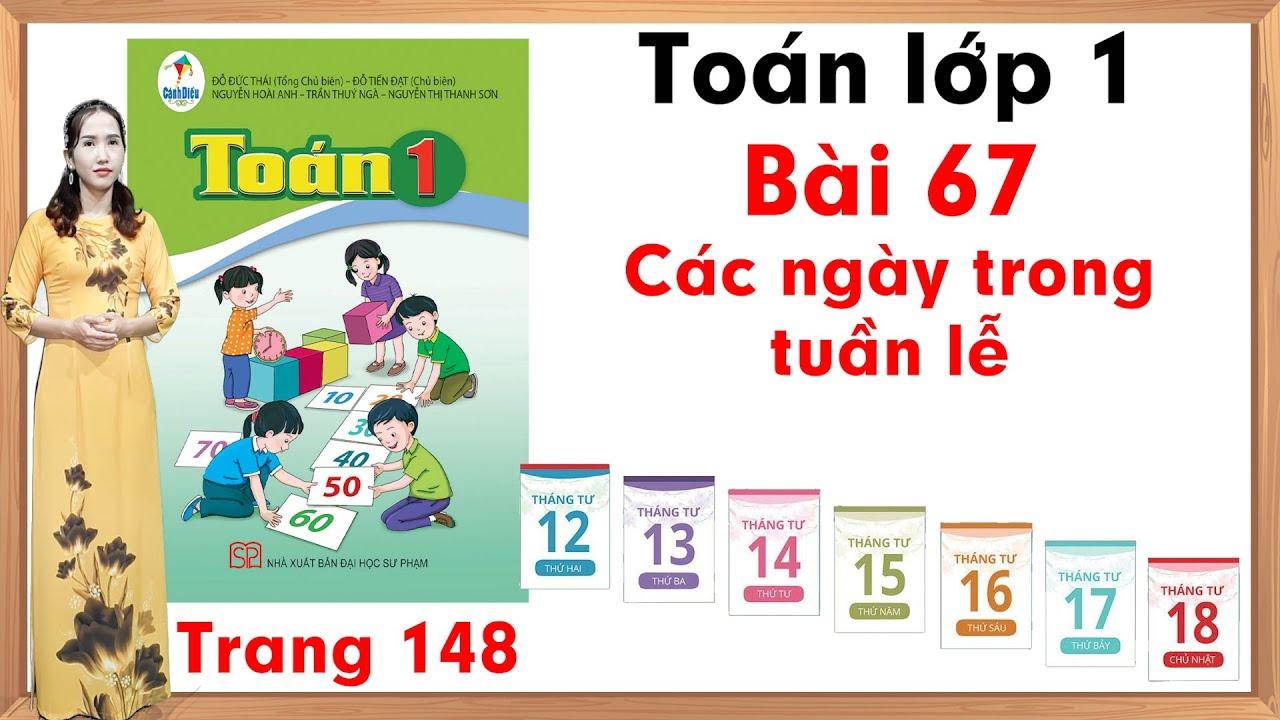 Học toán lớp 1| Toán cộng lớp 1 |Toán lớp 1 sách cánh diều bài 67 |Các ngày trong tuần lễ