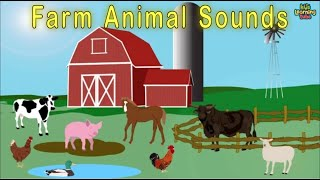 Animals on the Farm/Animal Sounds Song/Farm Song For Children