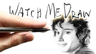 Watch Me Draw: Frodo Baggins (Fan Art)