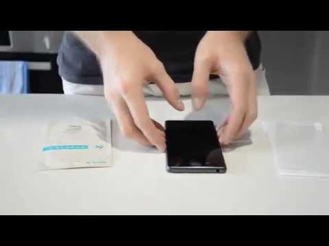 Как наклеить защитное стекло на Sony Xperia Z1, Z2, Z3 (compact)