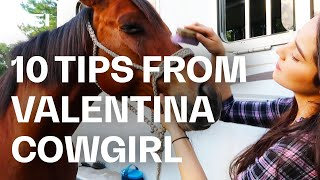 10 things to do when you can't ride your horse - Tips & Tricks from Cindy Valentina | Guest Vlog