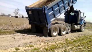 Back spreading gravel