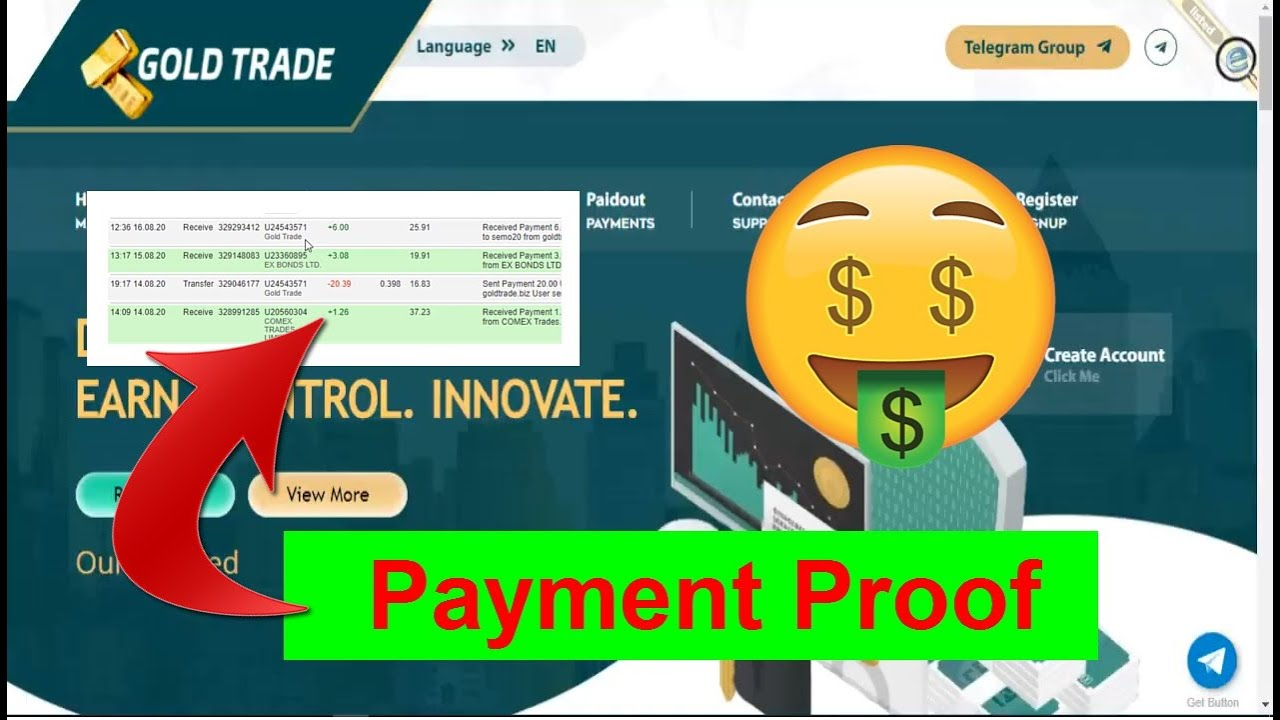 GoldTrade New Payment Proof 16/08/2020 | GoldTrade Review ...