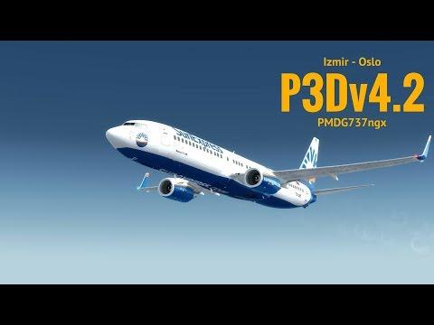 [P3Dv4.2] Izmir (LTBJ) - Oslo (ENGM)   PMDG 737ngx   SUNEXPRESS   VATSIM