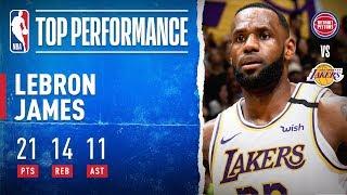 LeBron Drops Flashy Triple-Double!