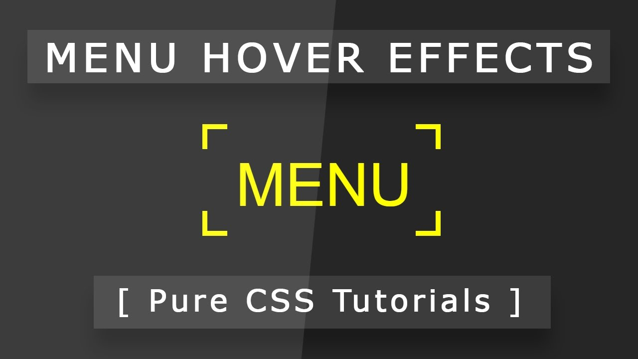 Cool CSS Menu Hover Effects - Html5 Css3 Hover Effect Tutorial