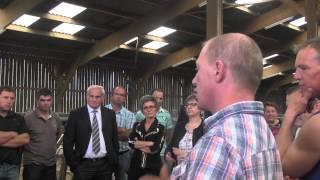 Visite d'une exploitation viande bovine avec G GAROT