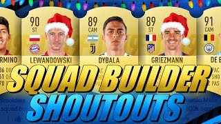 100K/200K/300K/400K/500K HYBRID SQUAD BUILDER SHOUTOUTS CHRISTMAS SPECIAL FIFA 19 ULTIMATE TEAM