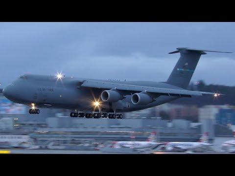 US Air Force Lockheed C-5M SUPER GALAXY [84-0061] at Zurich Airport