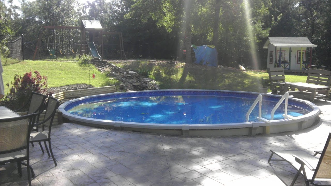 Dropping an above ground pool in the ground youtube for Best in ground pool