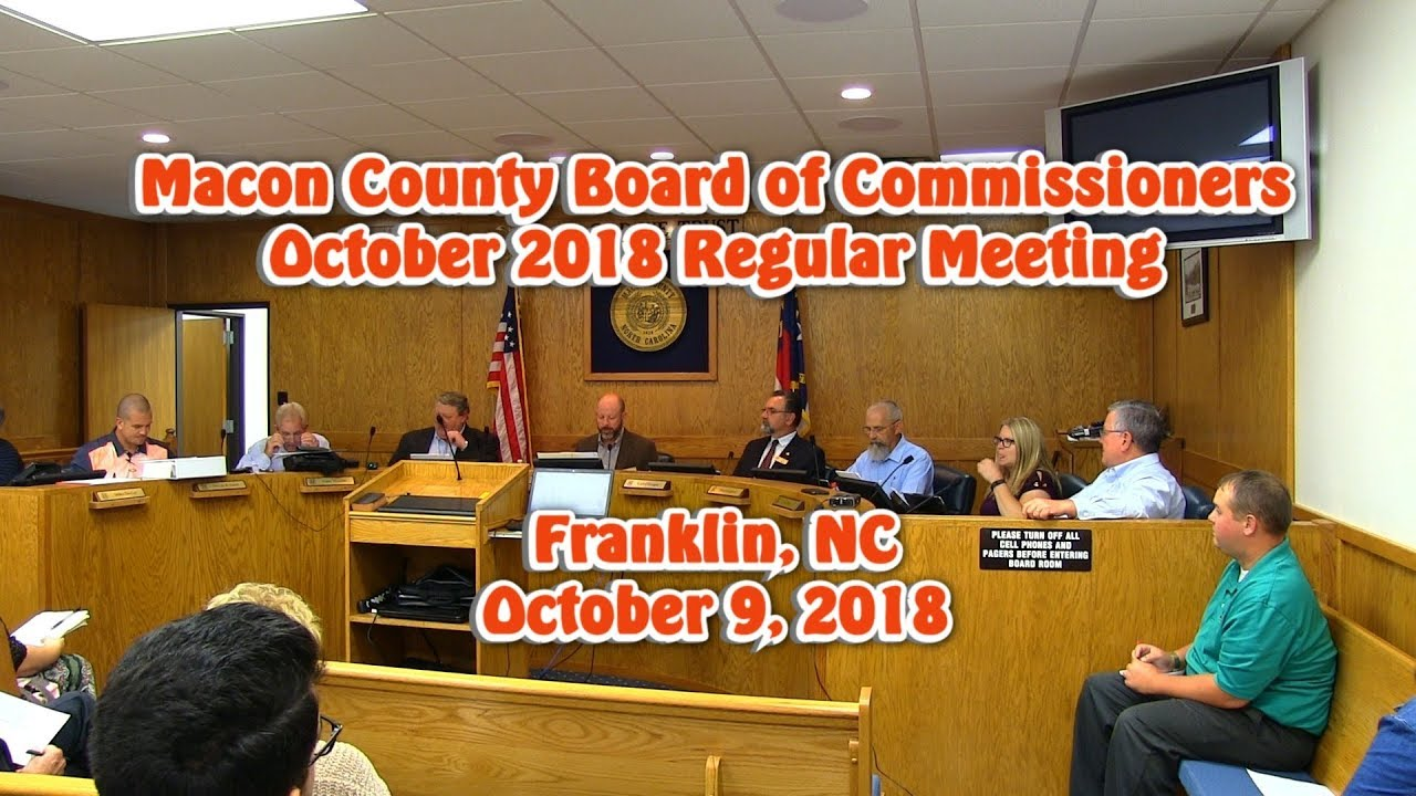 Macon County Board of Commissioners - October 2018