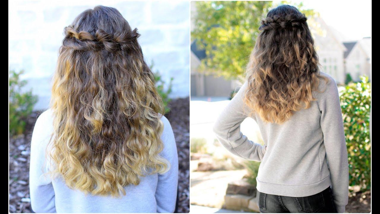 Puffed Loop Braid Cute Girls Hairstyles YouTube - Hairstyle girl youtube