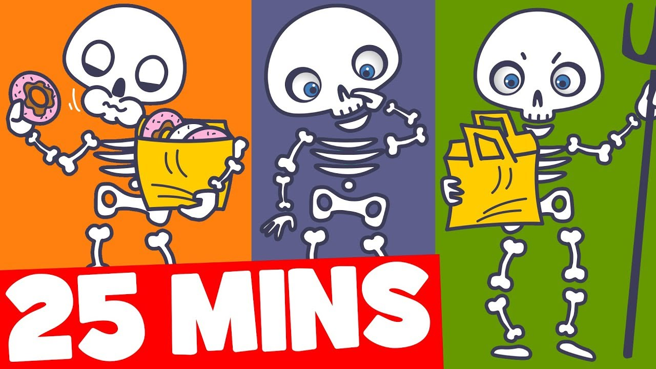 skeleton song for kids and more 25mins halloween songs collection for kids