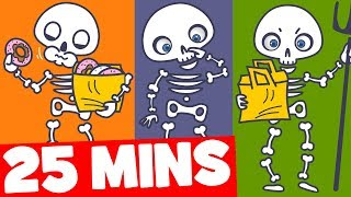 Skeleton Song for Kids and More | 25mins Halloween Songs Collection for Kids