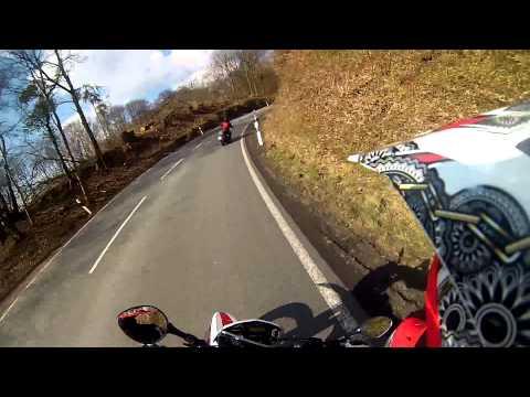 Husqvarna SMR 125 - Chasing crazy custom Harley