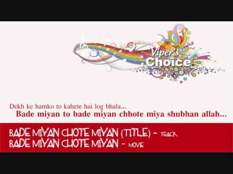 Bade Miyan Chote Miyan (Title) - Bade Miyan Chote Miyan