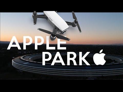 (DJI Spark Footage) - Apple Infinite Loop & Apple Park