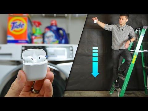 AirPods Drop & Water Test! Secretly Waterproof?