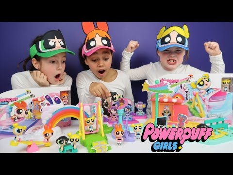 Thumbnail: Powerpuff Girls Toy Challenge! Story Maker System Superheroes Blossom,Buttercup,Bubbles | Ad Feature