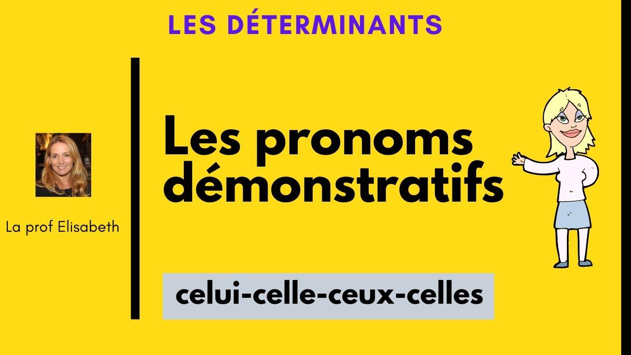 Les pronoms démonstratifs en français. Celui-celle-ceux-celles..Niveau A2