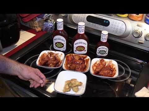 GoWISE USA Air Fryer - More BBQ Chicken Wings With Kentucky Kernel And Sweet Baby Ray's Sauces