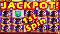 ☆JACKPOT HANDPAY!☆ EPIC 1st SPIN ON FREEPLAY!! BUFFALO GOLD SUPER GAMES WONDER 4 SLOT