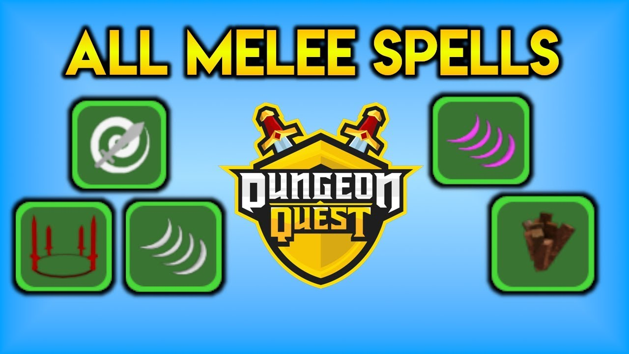 Where To Get All Melee Spells Physical Damage Dungeon Quest Roblox Youtube