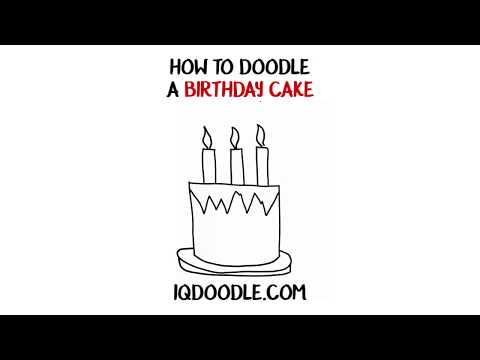 How to Draw a Birthday Cake (drawing tips)