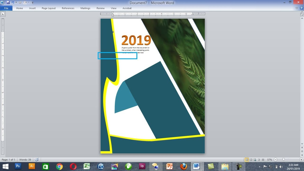 how to make beautiful book cover page in ms word  simple