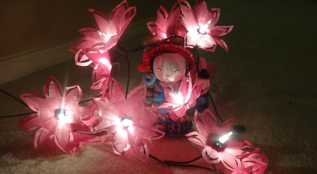paper flower lights