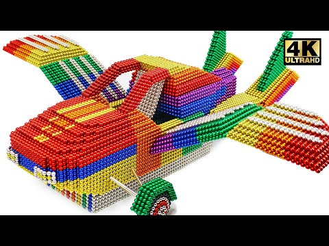 DIY - How To Make Flying Car From Magnetic Balls (Satisfying) | Magnet World Series