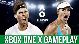 AO Tennis - Xbox One X Gameplay (Gameplay / Preview)