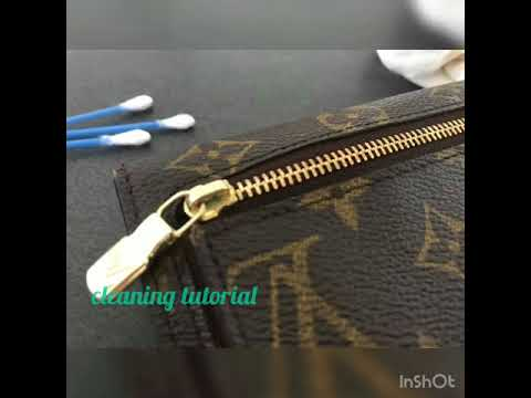 Cleaning tutorial - How to clean brass hardware - Louis Vuitton Koala Wallet