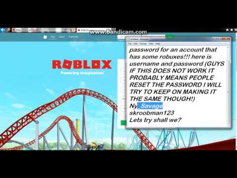 Password and username for roblox account with some cool items!!