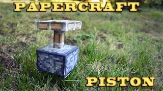 Papercraft | Piston | Minecraft tutorial [ Mundo Real 1.0 ]
