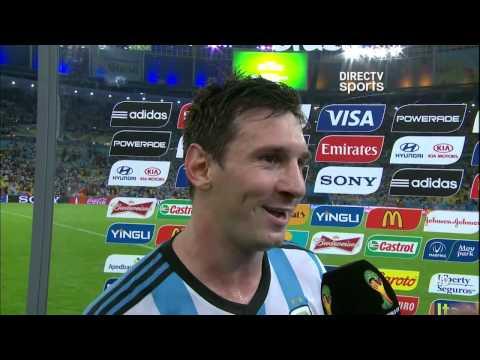 DIRECTV Sports™ - Entrevista a  Lionel Messi y Alejandro Sabella pos t- partido.