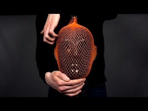 ASMR Dummy head in an orange net (binaural)