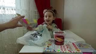 A101 DEN ALIŞVERİŞ YAPTIK...Eğlenceli Çocuk Videosu...