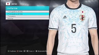 PES 2018 - Asia-Oceania National Teams Kits And Ratings