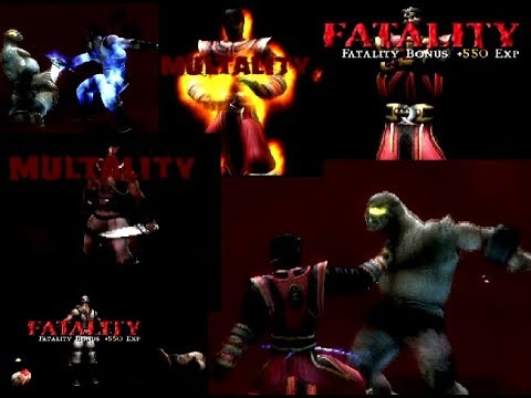 Mortal Kombat Shaolin Monks: Kano, Ermac, Sonya and Shao Kahn fatalities