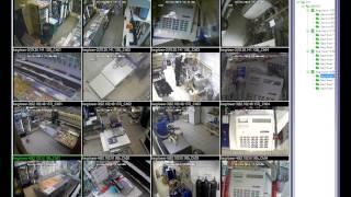 Пример удаленного видеонаблюдения. Работа с клиентской программой.