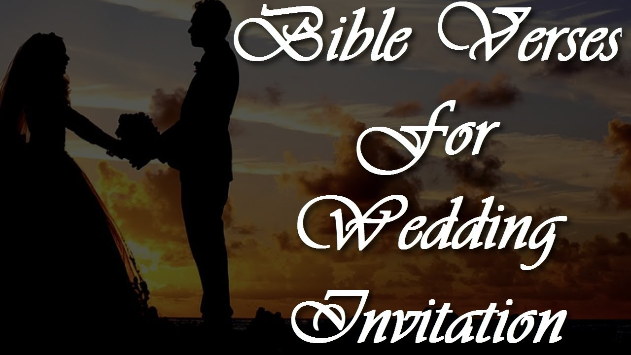 5 Bible Verses For Wedding Wishes