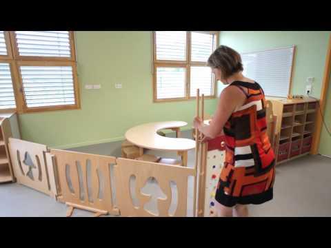 Mobilier de crèche et de la petite enfance. Gamme de séparations de l'espace de DAILLOT