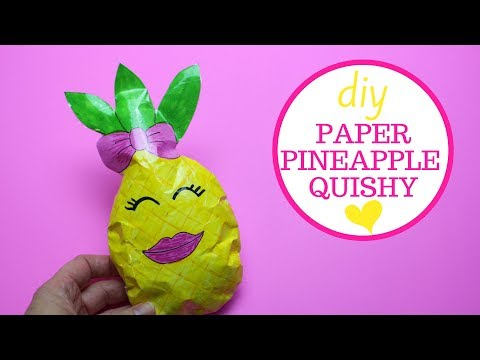Pineapple Paper Squishy | No Foam Paper Squishy