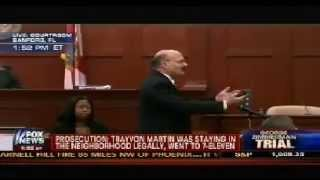 Prosecution Closing Arguments In Zimmerman Trial (Part 1) - 7/11/2013