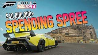 Forza Horizon 4 - Spending $42,000,000 Credits On EVERYTHING!